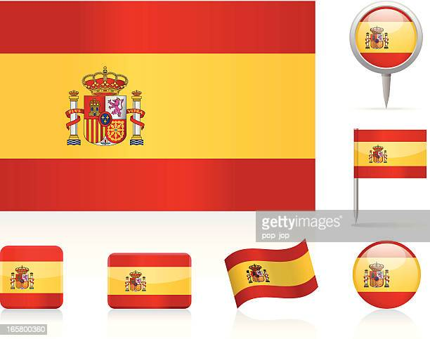 Flags of Spain - icon set