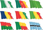 flags of the African countries (set 1)