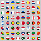 Flags of the countries of the world, a large set of flags of different countries.