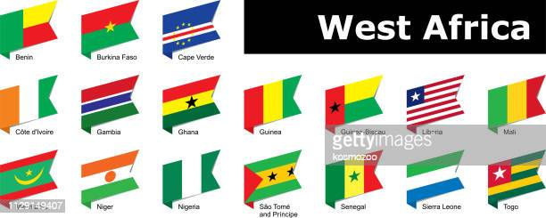 flags of west africa - senegal stock illustrations, clip art, cartoons, & icons