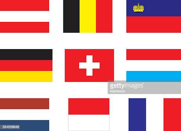 Flaggen von Westeuropa
