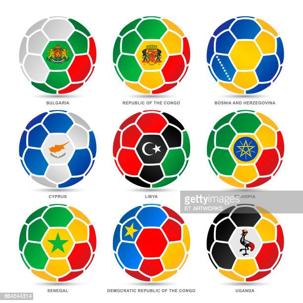 flags of world on soccer balls - senegal stock illustrations, clip art, cartoons, & icons