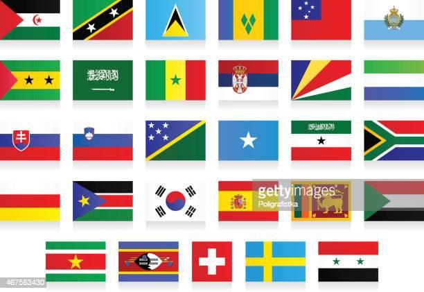 "flags - ""s"" - eswatini stock illustrations, clip art, cartoons, & icons"