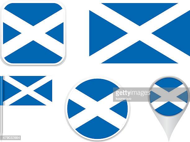 flags, schottland - scotland stock-grafiken, -clipart, -cartoons und -symbole