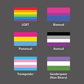 LGBT flags set
