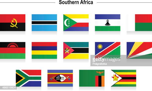 flags - southern africa - eswatini stock illustrations, clip art, cartoons, & icons