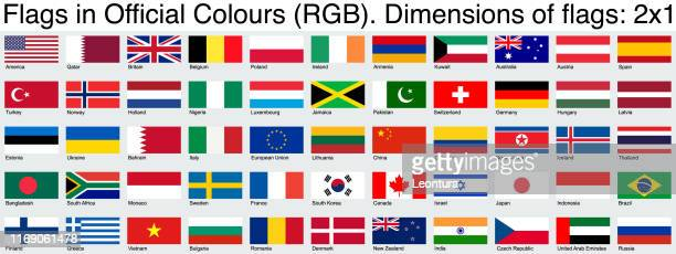 flags, using the official rgb colors, ratio 2x1 - italy vs sweden stock illustrations