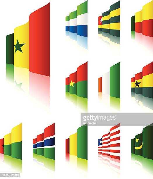 3d flags - liberia stock illustrations, clip art, cartoons, & icons