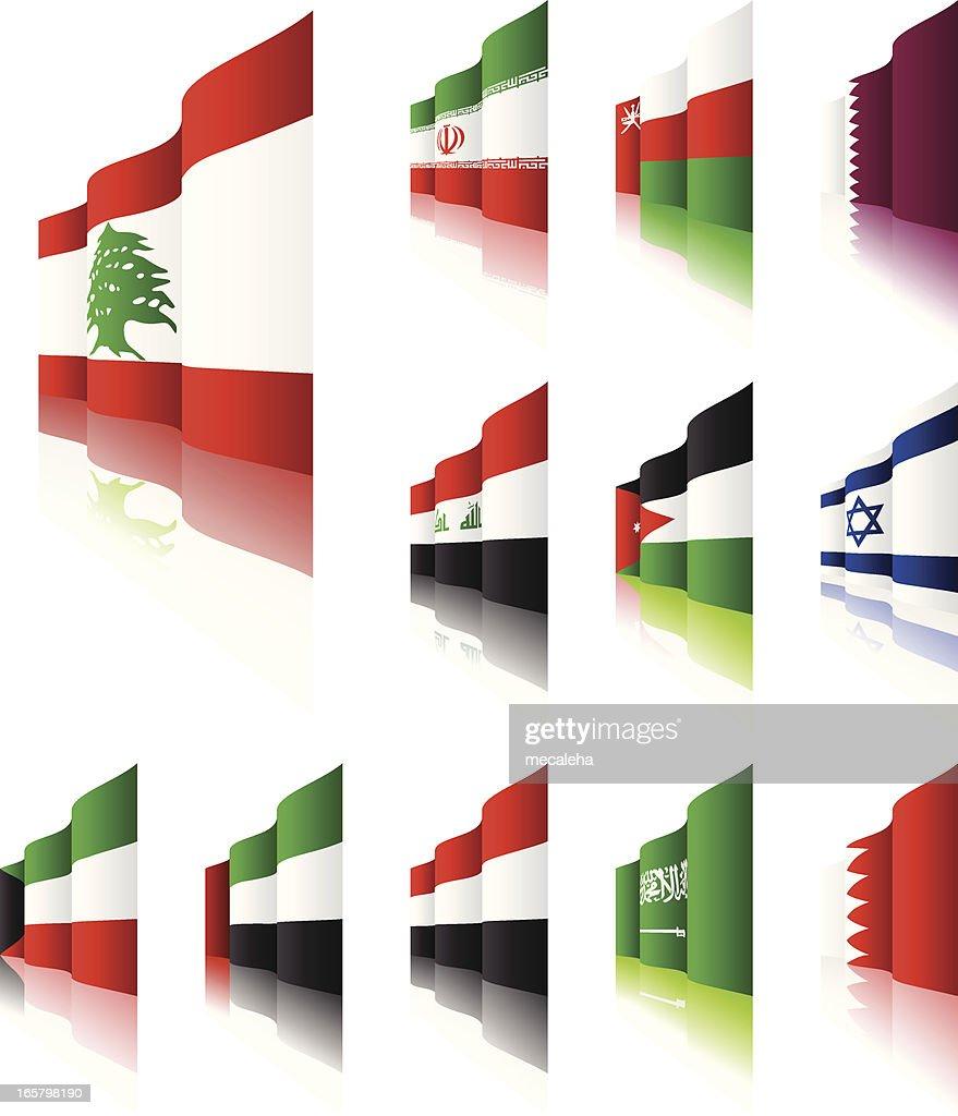 3D Flags : stock illustration
