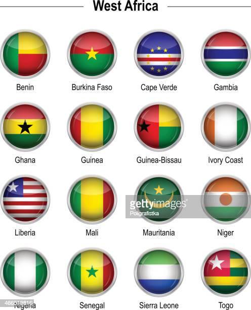 flags - west africa - ghana flag stock illustrations, clip art, cartoons, & icons