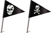 Flags with Skull and Crossbones