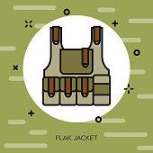 Flak Jacket Military Icon