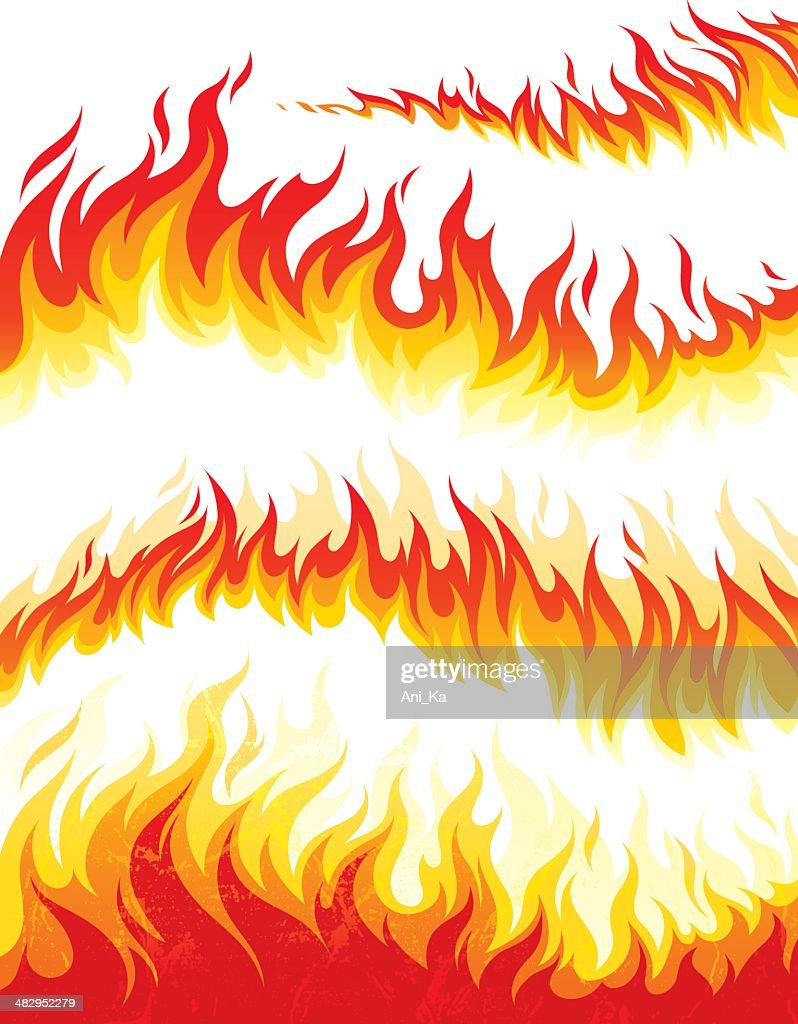 Flame collection : stock illustration