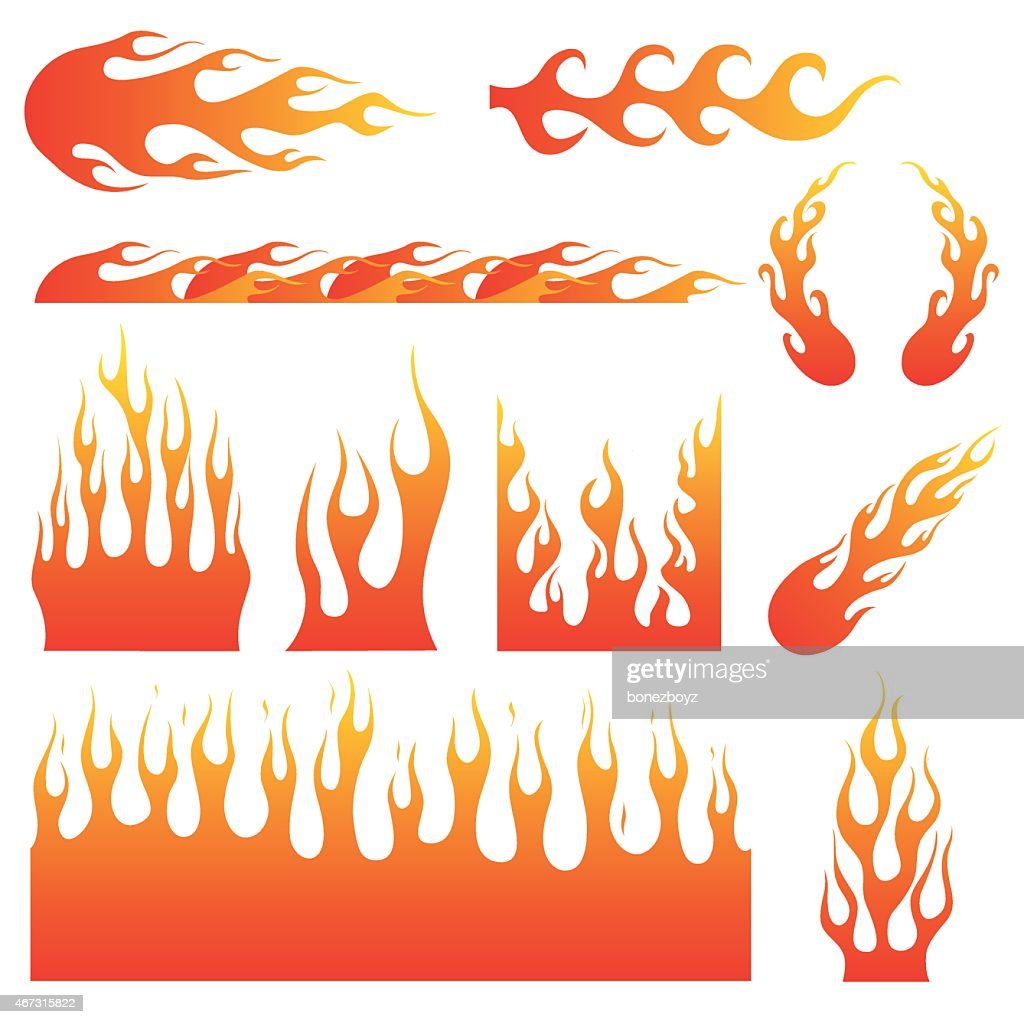 Flame Decals