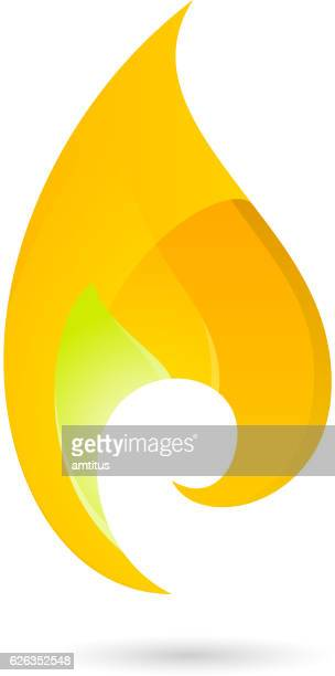 flame design element - igniting stock illustrations