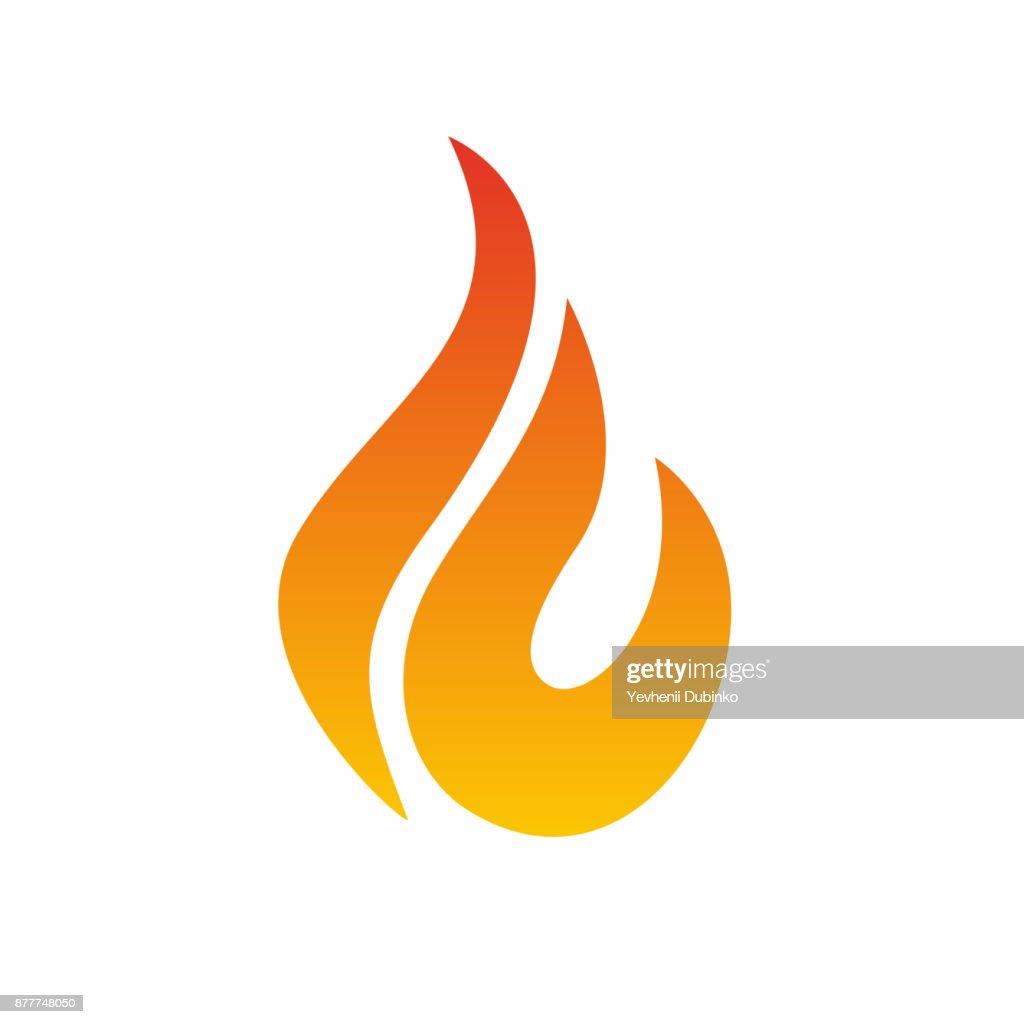 Flame icon, fire icon. Fire flame icon design template