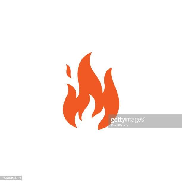 flamme-symbol - flamme stock-grafiken, -clipart, -cartoons und -symbole
