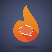 Flame icon with a cloud comic balloon