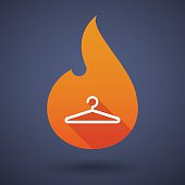 Flame icon with a hanger