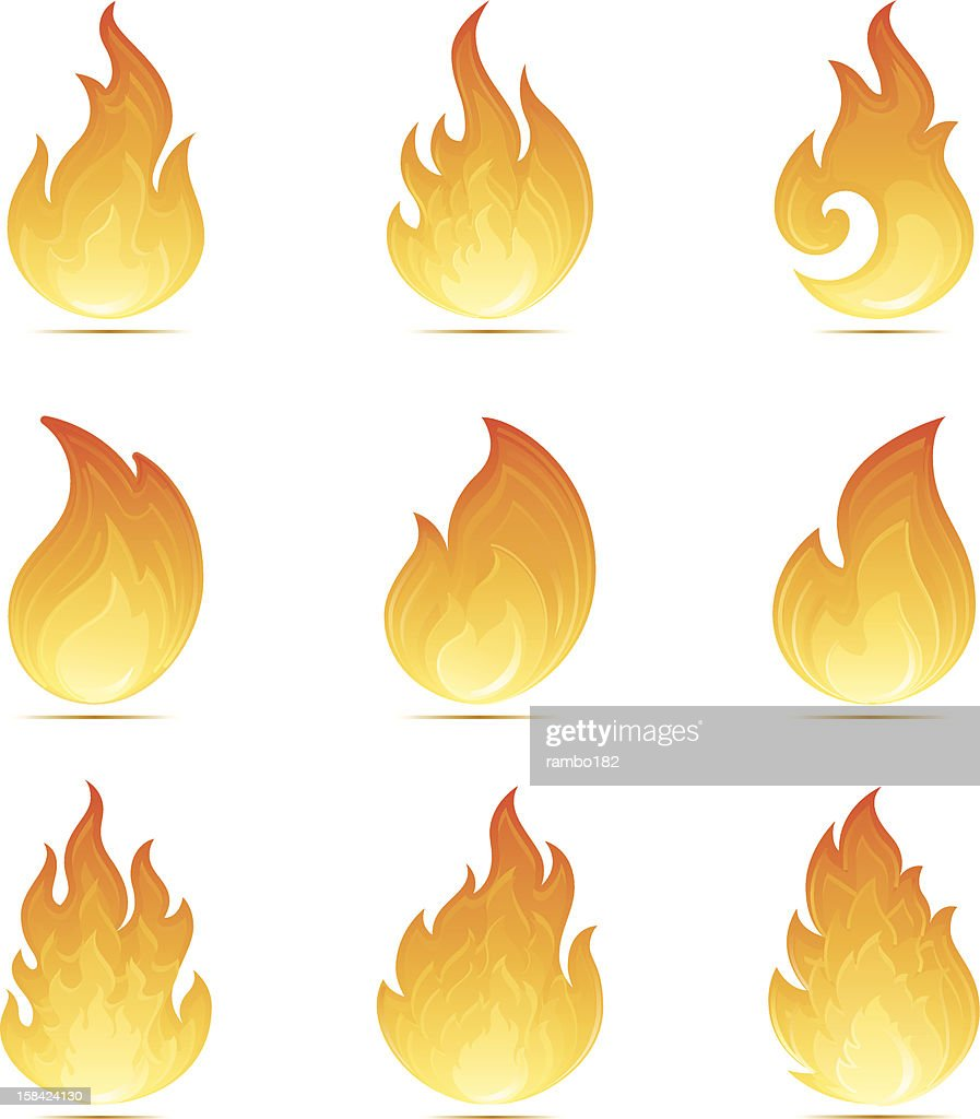 Flame Icons : stock illustration
