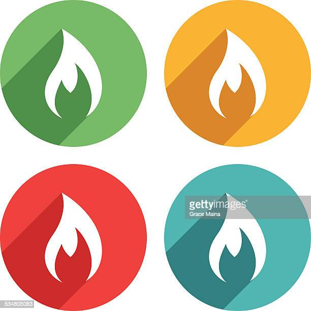 Flamme Symbol-VEKTOR