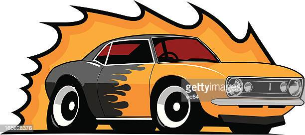 Flame Paint Muscle Car 1967