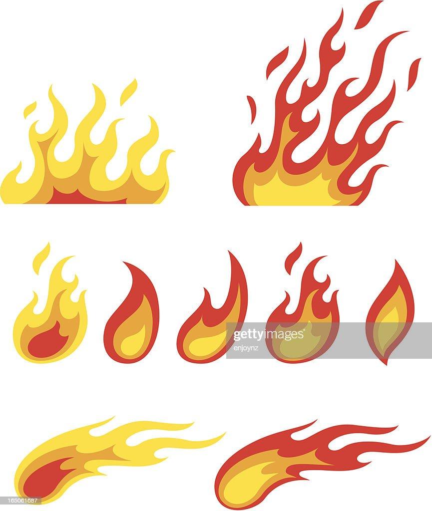 flame symbols : stock illustration