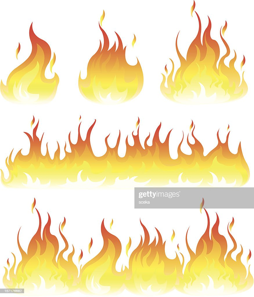 flame : stock illustration