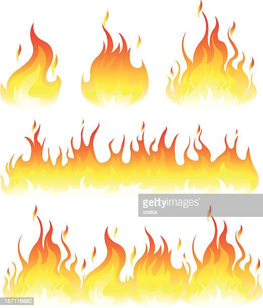 flame - fire natural phenomenon stock illustrations, clip art, cartoons, & icons