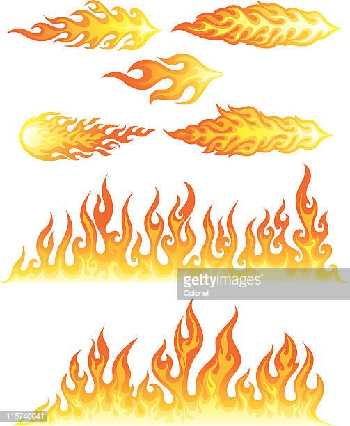 flames - flames stock illustrations, clip art, cartoons, & icons