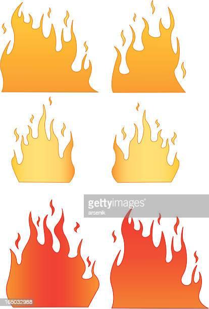 炎 - 熱映像点のイラスト素材/クリップアート素材/マンガ素材/アイコン素材