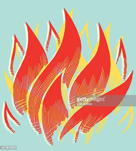 flames - fire natural phenomenon stock illustrations, clip art, cartoons, & icons