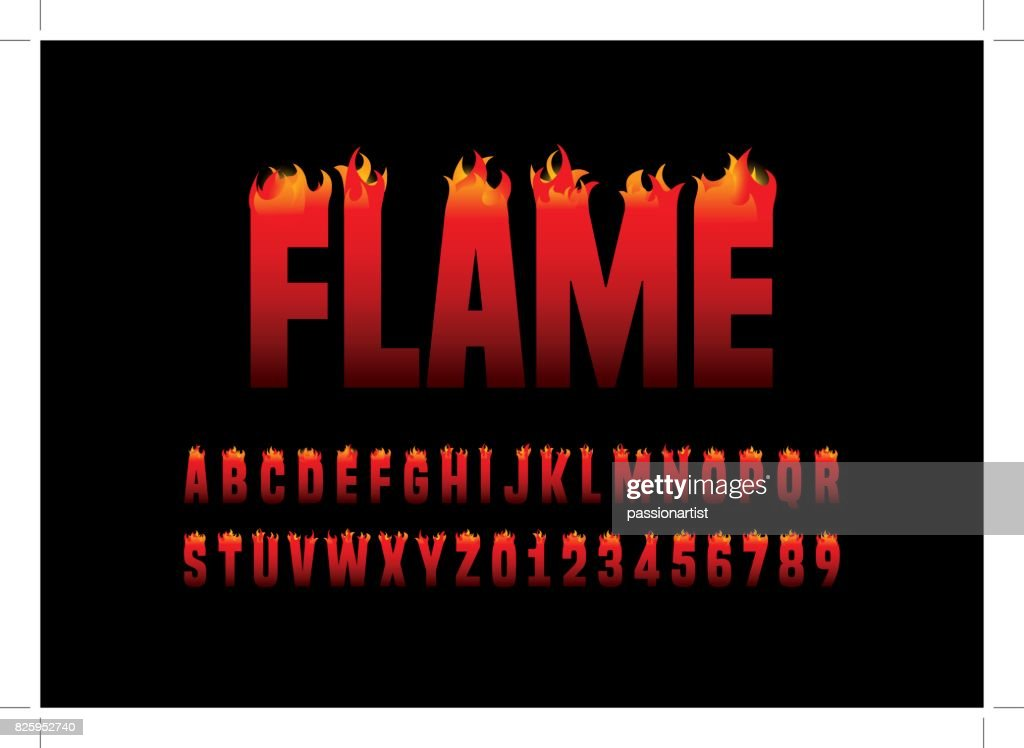 Flaming alphabet