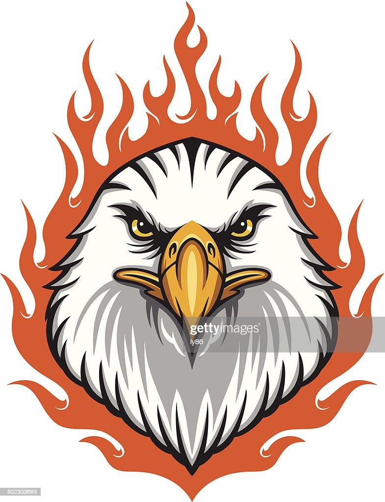flaming Eagle Head