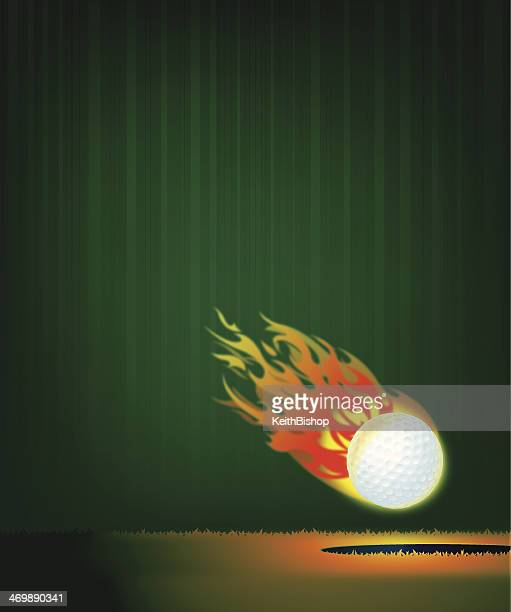 flaming golf ball background - drive ball sports stock illustrations, clip art, cartoons, & icons