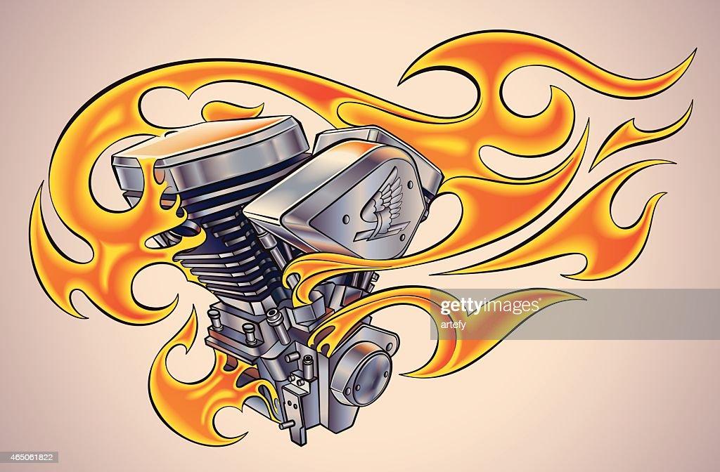 Flaming motor