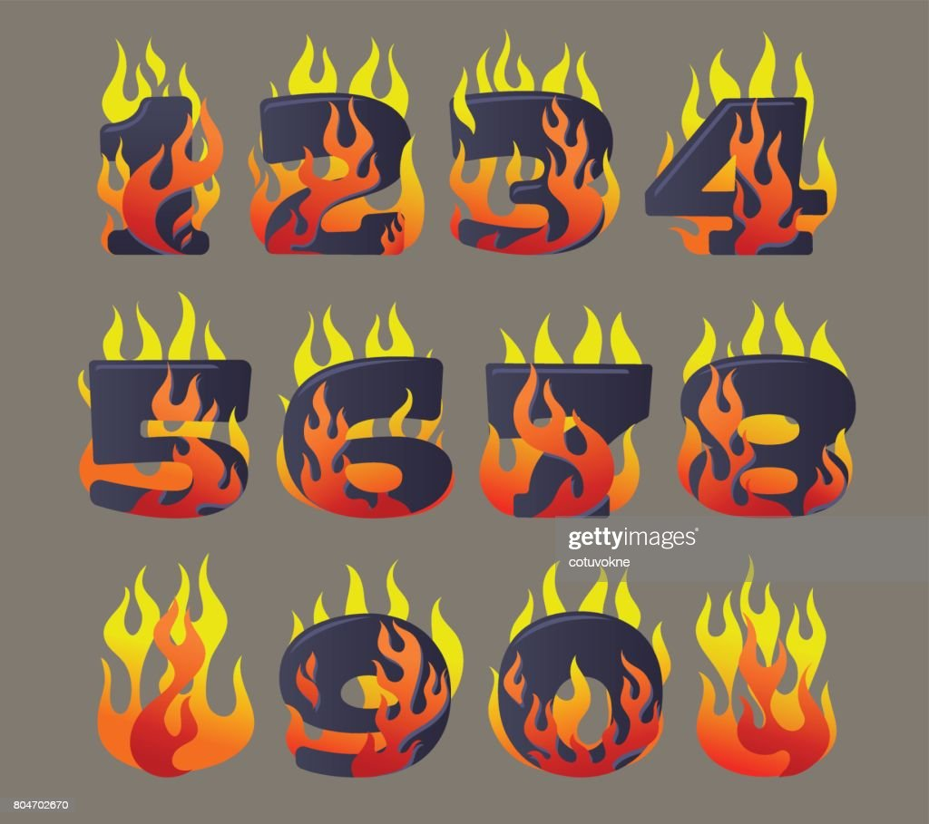 Flaming numbers set