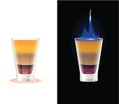 Flaming shot drink b52