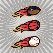 Flaming Sports Balls