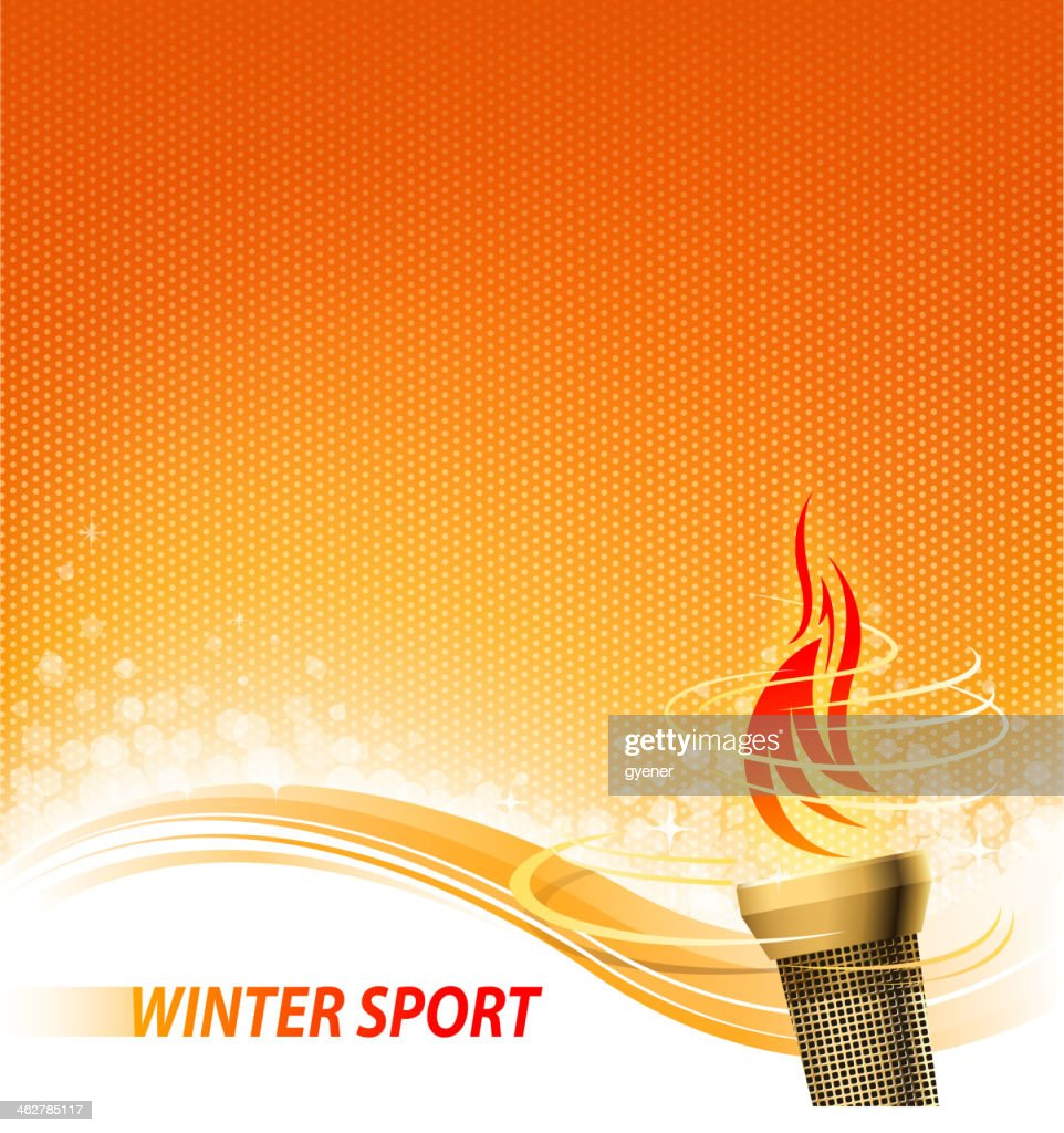 flaming torch backround : stock illustration