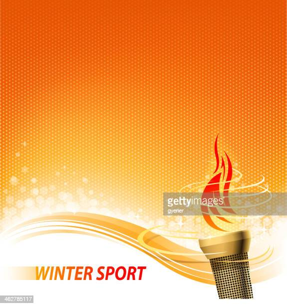 flaming torch backround - sport torch stock illustrations, clip art, cartoons, & icons