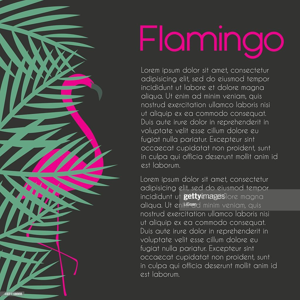 flamingo template on dark background vector art getty images