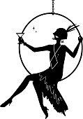Flapper silhouette clip-art
