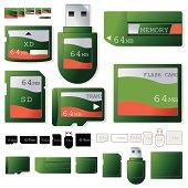 Flash card 64