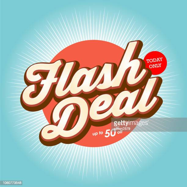 flash deal banner design with color starburst background. - flash light stock illustrations, clip art, cartoons, & icons