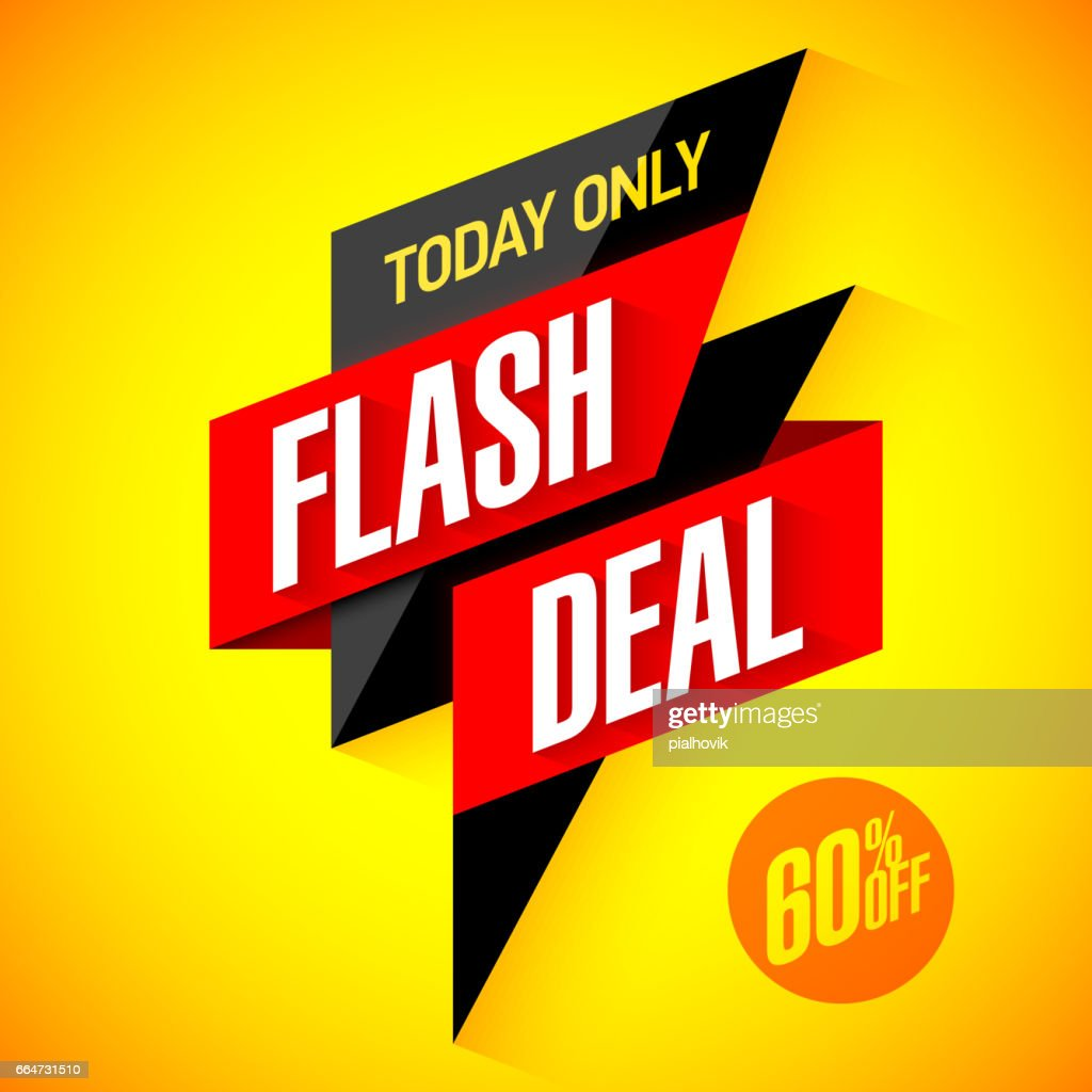 Flash deal sale banner