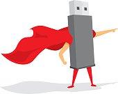 Flash drive super hero saving the day