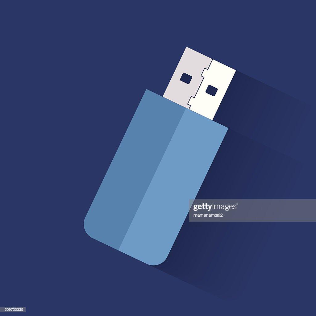 Flash drive symbol,clean vector