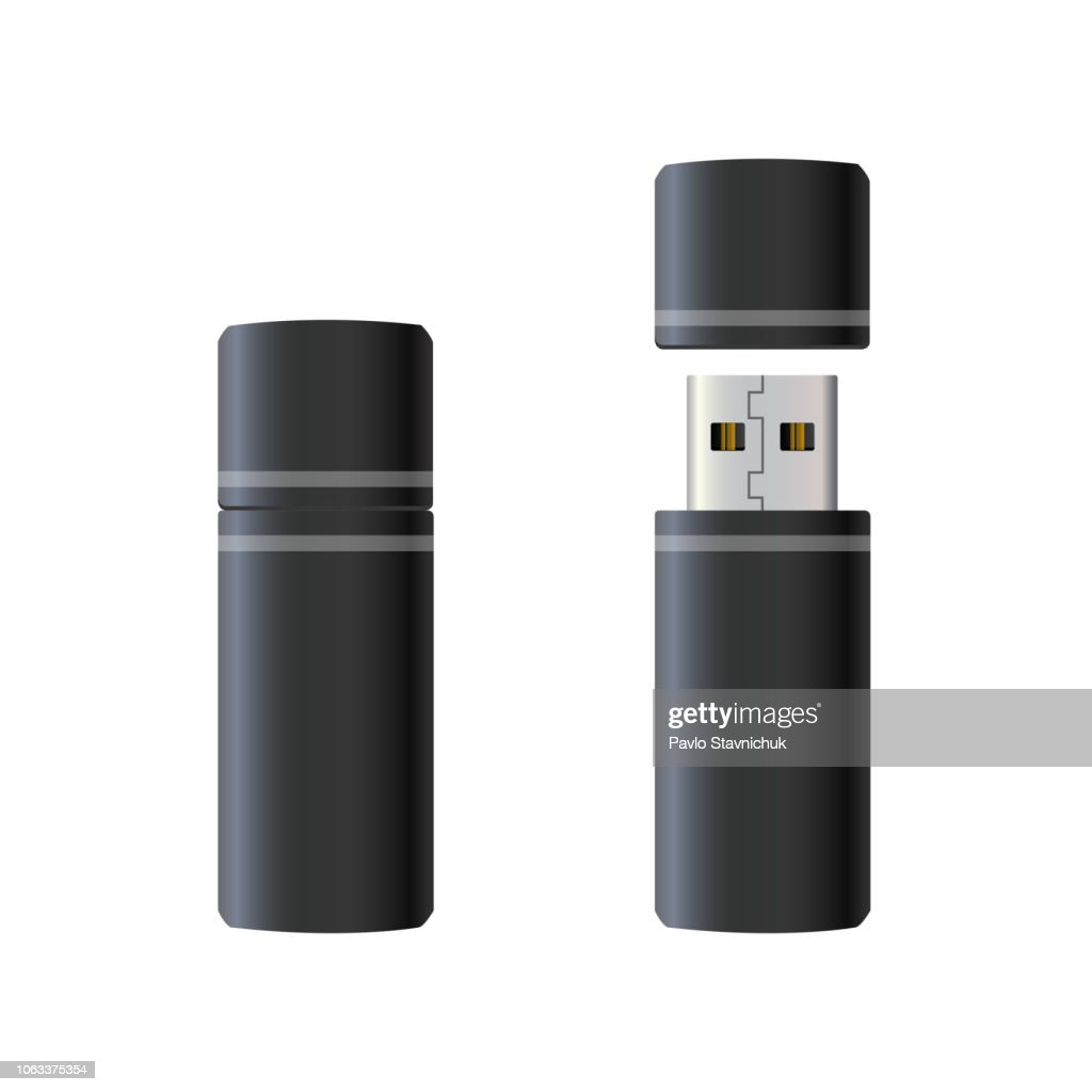 USB flash drive – vector for stock