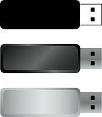 USB flash drives, colored portable data storage